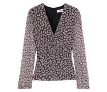 Eileen Twist-front Floral-print Silk-georgette Blouse