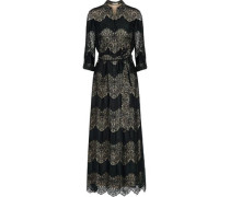 Sina paneled guipure lace and voile maxi dress