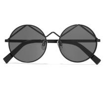 Wild Child Round-frame Matte-acetate Sunglasses Schwarz
