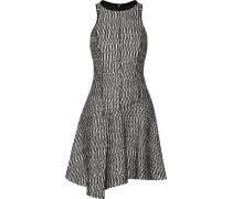 Asymmetric Bouclé Mini Dress Schwarz