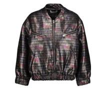 Zina metallic cotton-blend bomber jacket