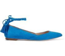 Penelope suede point-toe flats