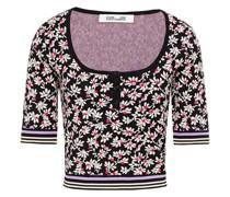 Kael Cropped Jacquard-knit Top