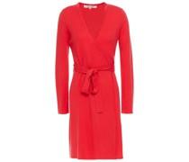 Wool And Cashmere-blend Mini Wrap Dress