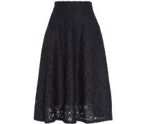Guipure Lace Midi Skirt Mitternachtsblau