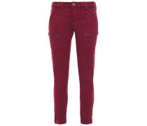 Park Cropped Zip-detailed Mid-rise Skinny Jeans