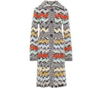 Mantel aus Wolle mit Intarsienmuster