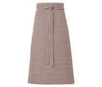 Petra Checked Woven Wrap Skirt