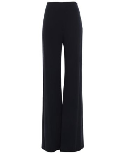 Crepe Wide-leg Pants Black Size 14