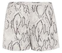 Printed Silk Shorts Weiß