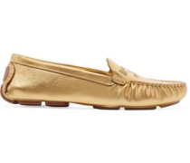 Maynard metallic leather loafers