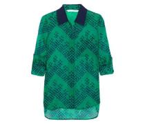 Lorelei printed silk-georgette blouse