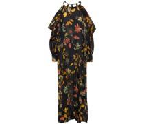 Luna Maxikleid aus Baumwoll-voile mit Floralem Print und Cut-outs