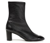 Fernanda 60 Pebbled And Patent-leather Ankle Boots