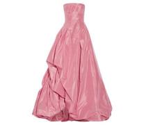 Ruffled silk-faille gown