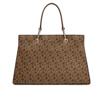 Logo-print Faux Leather Tote
