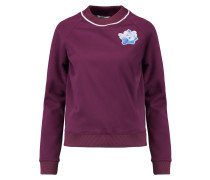Floral-appliquéd Jersey Sweatshirt Lila