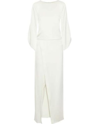 Cutout Satin Gown Off-white