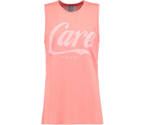 Printed Cotton And Modal-blend Jersey Tank Korall