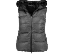 Febedue Hooded Quilted Wool And Cashmere-blend Gilet Dunkelgrau
