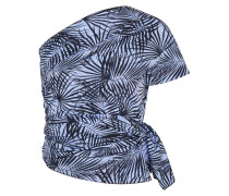 Printed Cotton-poplin Top Blau