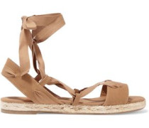 Ibo canvas and grosgrain sandals