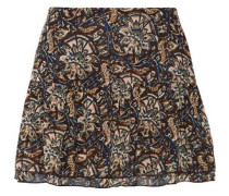 Lucette ruffled printed silk-georgette mini skirt