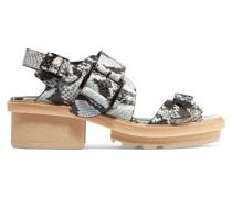 Mallory Snake-effect Leather Sandals Schlangen-Print