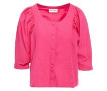 Popy Geraffte Bluse aus Baumwollpopeline