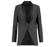 Embellished Wool And Cotton-blend Blazer Dunkelgrau