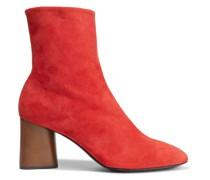 Woman Fei Suede Ankle Boots Tomato Red