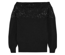 Bead-embellished wool and cashmere-blend sweater