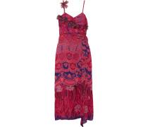 Zandra Printed Crinkled Silk-chiffon Maxi Dress Pink