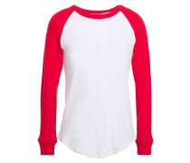 Two-tone Cotton And Cashmere-blend Jersey Top