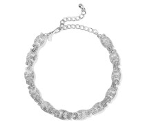 Silver-tone Crystal Necklace Silber