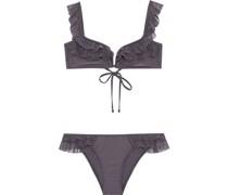 Laelia Ruffled Point D'esprit-trimmed Bikini