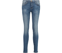 Woman Cropped Mid-rise Skinny Jeans Mid Denim