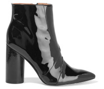 Patent-leather Ankle Boots Schwarz