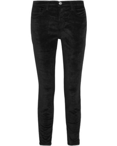 The Stiletto Velvet Slim-leg Pants Black  3