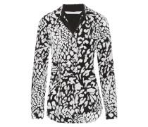 Lorelei Printed Silk Shirt Schwarz