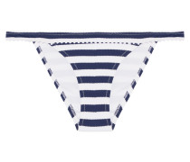 Palermo Striped Bikini Briefs Mitternachtsblau