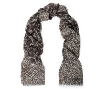 Metallic Leopard-print Modal-blend Scarf Ivory Size --