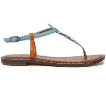 Gigi Snake-effect Leather Sandals