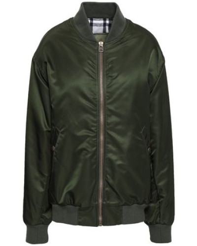 Shell Bomber Jacket Dark Green