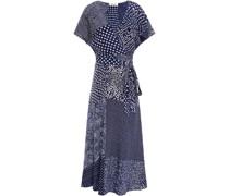 Bedrucktes Midi-wickelkleid aus Crêpe De Chine aus Seide