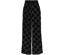 Brick Lane Beflockte Pyjama-hose aus Tüll mit Polka-dots