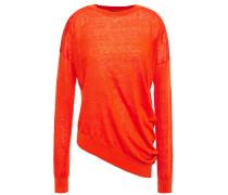 Asymmetric Linen-blend Sweater