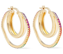 24-karat -plated Siamite Hoop Earrings