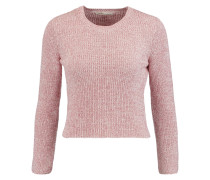 Cropped Knitted Sweater Babypink