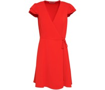 Crepe Mini Wrap Dress